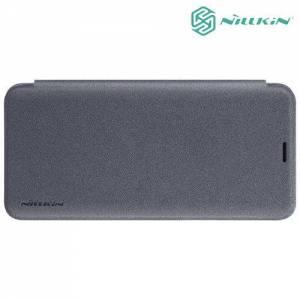 Nillkin ультра тонкий чехол книжка для Samsung Galaxy S9 - Sparkle Case Серый