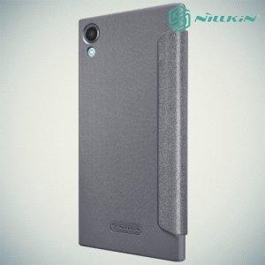 Nillkin ультра тонкий чехол книжка для Sony Xperia XA1 Plus - Sparkle Case Серый