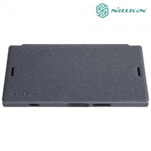 Nillkin ультра тонкий чехол книжка для Sony Xperia XZ1 Compact - Sparkle Case Серый