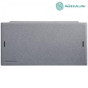 Nillkin ультра тонкий чехол книжка для Sony Xperia XZ1 - Sparkle Case Серый