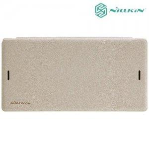 Nillkin ультра тонкий чехол книжка для Sony Xperia XZs - Sparkle Case Золотой