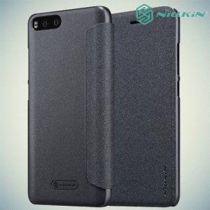 Nillkin ультра тонкий чехол книжка для Xiaomi Mi 6 - Sparkle Case Серый