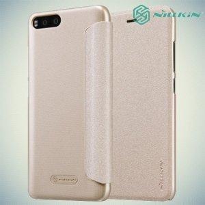 Nillkin ультра тонкий чехол книжка для Xiaomi Mi 6 - Sparkle Case Золотой
