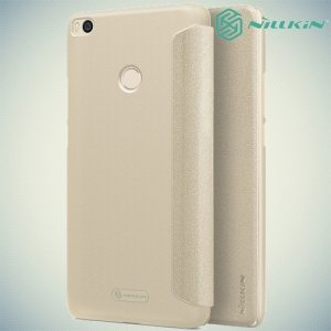 Nillkin ультра тонкий чехол книжка для Xiaomi Mi Max 2 - Sparkle Case Золотой