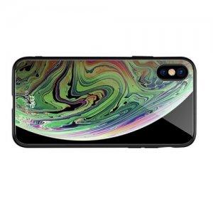 NXE Glass Case Силиконовый Стеклянный чехол для iPhone XS Max с рисунком Космос