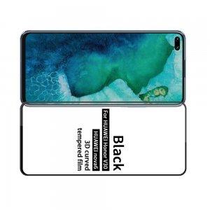 Олеофобное Закаленное Защитное Стекло для Huawei Honor View 30 / View 30 Pro Черное