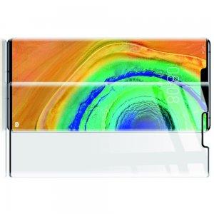 Олеофобное Закаленное Защитное 3D Стекло для Huawei Mate 30 Pro черная рамка