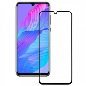 Олеофобное Закаленное Защитное Стекло для Huawei Y8p черное