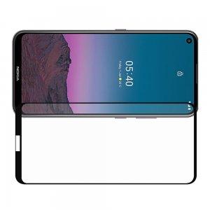 Олеофобное Закаленное Защитное Стекло для Nokia 5.4 черное