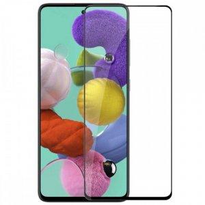 Олеофобное Закаленное Защитное Стекло для Samsung Galaxy A51 черное