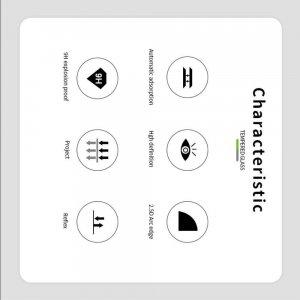 Олеофобное Закаленное Защитное Стекло для Sony Xperia 8 прозрачное