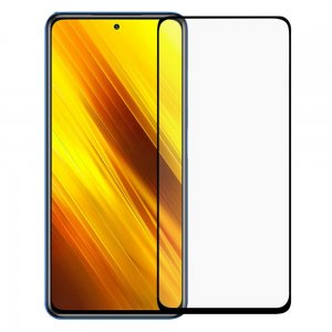 Олеофобное Закаленное Защитное Стекло для Xiaomi Poco X3 NFC черное