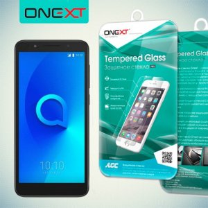 OneXT Закаленное противоударное защитное стекло на Alcatel 1X
