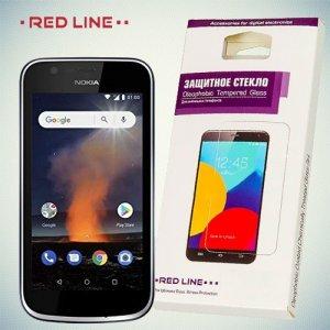 RedLine Закаленное противоударное защитное стекло на Nokia 1