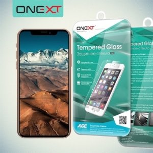 OneXT Закаленное защитное стекло для iPhone Xs / X