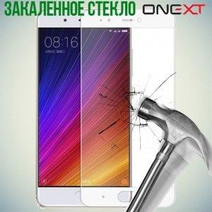 OneXT Закаленное защитное стекло для Xiaomi Mi 5s на весь экран - Белый