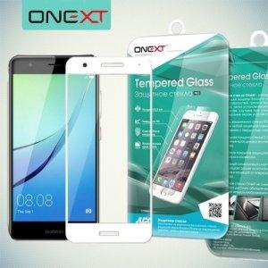 OneXT Закругленное защитное 3D стекло для Huawei nova на весь экран - Белый