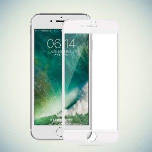 DF Закругленное защитное 3D стекло для iPhone 8/7 на весь экран - Белый