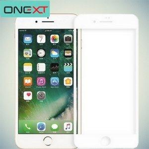 OneXT Закругленное защитное 3D стекло для iPhone 8 Plus на весь экран - Белый