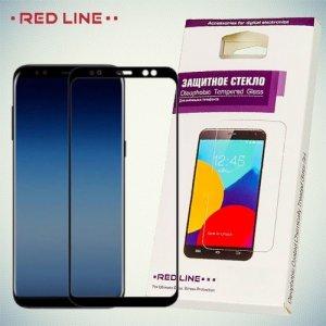 RedLine Закругленное защитное 3D стекло для Samsung Galaxy A8 Plus 2018 на весь экран - Черный