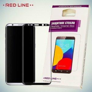 RedLine Закругленное защитное 3D стекло для Samsung Galaxy S8 на весь экран - Черный