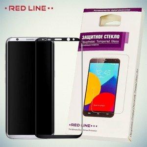 RedLine Закругленное защитное 3D стекло для Samsung Galaxy S8 Plus на весь экран - Черный