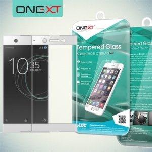 OneXT Закругленное защитное 3D стекло для Sony Xperia XA1 Ultra на весь экран - Белый