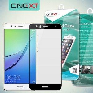 OneXT Защитное стекло для Huawei Nova lite 2017 на весь экран - Черный