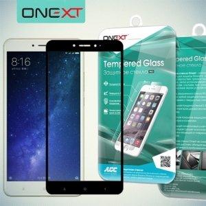 OneXT Защитное стекло для Xiaomi Mi Max 2 на весь экран - Черный