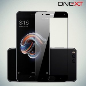 OneXT Защитное стекло для Xiaomi Mi Note 3 на весь экран - Черный