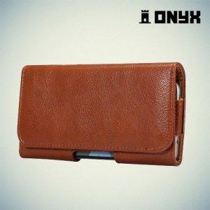 Onyx Чехол кобура на пояс ремень для телефонов до 5.5 дюймов - Коричневый