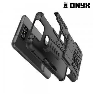 ONYX Противоударный бронированный чехол для Asus Zenfone 6 ZS630KL - Черный