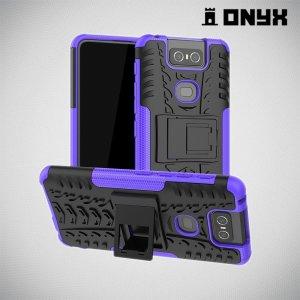 ONYX Противоударный бронированный чехол для Asus Zenfone 6 ZS630KL - Фиолетовый