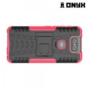 ONYX Противоударный бронированный чехол для Asus Zenfone 6 ZS630KL - Розовый