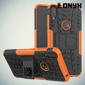 ONYX Противоударный бронированный чехол для Asus Zenfone Max Pro (M1) ZB601KL / ZB602KL - Оранжевый