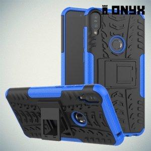 ONYX Противоударный бронированный чехол для Asus Zenfone Max Pro (M1) ZB601KL / ZB602KL - Синий