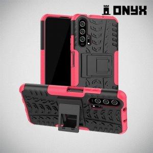 ONYX Противоударный бронированный чехол для Huawei Honor 20 Pro - Розовый