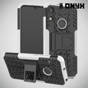 ONYX Противоударный бронированный чехол для Huawei Honor 8A - Белый