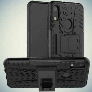 ONYX Противоударный бронированный чехол для Huawei Honor 8A / Y6 2019 / Honor 8A Pro - Черный