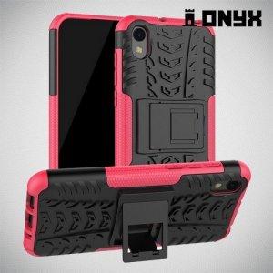 ONYX Противоударный бронированный чехол для Huawei Honor 8S / Y5 2019 - Розовый