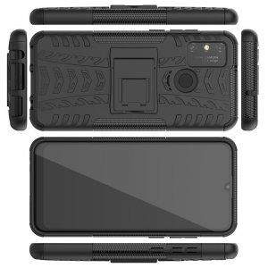 ONYX Противоударный бронированный чехол для Huawei Honor 9A - Черный