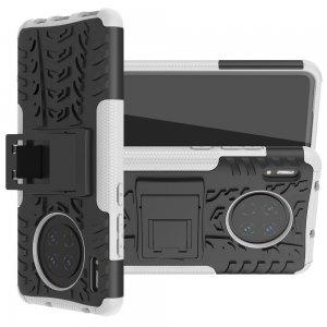 ONYX Противоударный бронированный чехол для Huawei Mate 30 - Белый / Черный