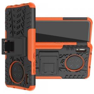 ONYX Противоударный бронированный чехол для Huawei Mate 30 - Оранжевый / Черный