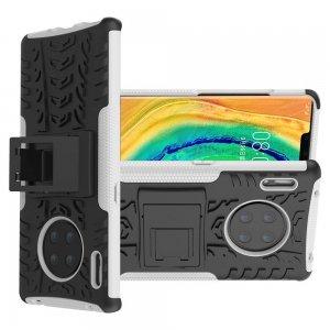 ONYX Противоударный бронированный чехол для Huawei Mate 30 Pro - Белый / Черный