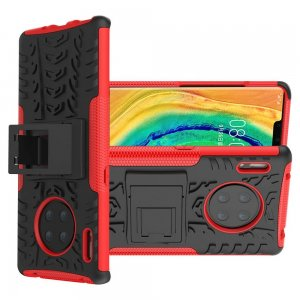 ONYX Противоударный бронированный чехол для Huawei Mate 30 Pro - Красный / Черный