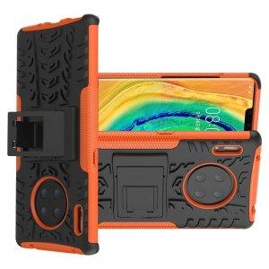ONYX Противоударный бронированный чехол для Huawei Mate 30 Pro - Оранжевый / Черный