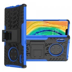 ONYX Противоударный бронированный чехол для Huawei Mate 30 Pro - Синий / Черный