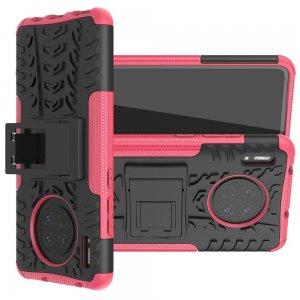ONYX Противоударный бронированный чехол для Huawei Mate 30 - Розовый / Черный
