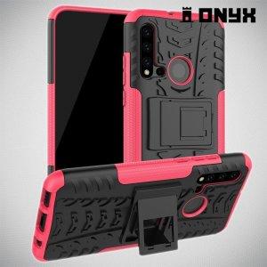 ONYX Противоударный бронированный чехол для Huawei P20 lite (2019) / nova 5i - Розовый
