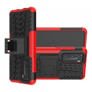 ONYX Противоударный бронированный чехол для Huawei P40 - Красный / Черный